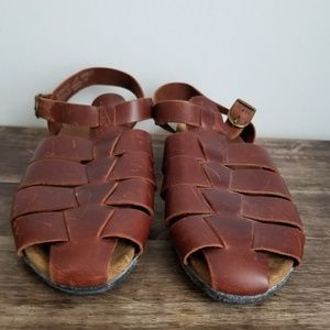 Rockport huarache brown leather sandals